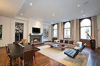 Living Room at 22 Mercer Street