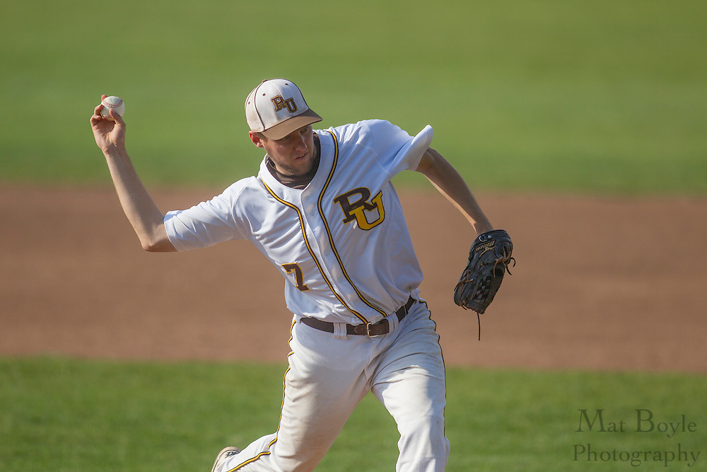 Rowan University Senior Right Handed Pitcher Ryan Peterson (7); Rowan Baseball defeats William Paterson University 7-6 in the first round of the NJAC playoffs on Tuesday May 1, 2012 in Glassboro, NJ. (photo / Mat Boyle)