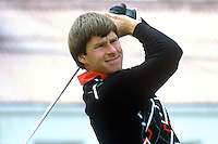 Nick Faldo, professional golfer, England, taken at Carrolls Irish Open 1985. 19850606NF1..Copyright Image from Victor Patterson, 54 Dorchester Park, Belfast, UK, BT9 6RJ..Tel: +44 28 9066 1296.Mob: +44 7802 353836.Voicemail +44 20 8816 7153.Skype: victorpattersonbelfast.Email: victorpatterson@me.com.Email: victorpatterson@ireland.com (back-up)..IMPORTANT: If you wish to use this image or any other of my images please go to www.victorpatterson.com and click on the Terms & Conditions. Then contact me by email or phone with the reference number(s) of the image(s) concerned.