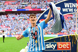 Free to use courtesy of Sky Bet. Tom Bayliss of Coventry City after winning the Sky Bet League Two play off final against Exeter City - Mandatory by-line: Dougie Allward/JMP - 28/05/2018 - FOOTBALL - Wembley Stadium - London, England - Coventry City v Exeter City - Sky Bet League Two Play-off Final