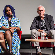 Speakers Jacqueline Shaw and David Sudden at The Business of African Fashion at WISH Africa Expo, a showcase of Pan-Africanism at Olympia Conference Centre on 9 June 2019, London, UK.