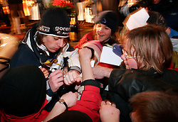 Rok Benkovic of Slovenia, World Ski Jumping Champion 2005 in Oberstdorf at reception in Kamnik after he came from Oberstdorf, on February 28, 2005 in Menges, Slovenia. (Photo By Vid Ponikvar / Sportida.com)