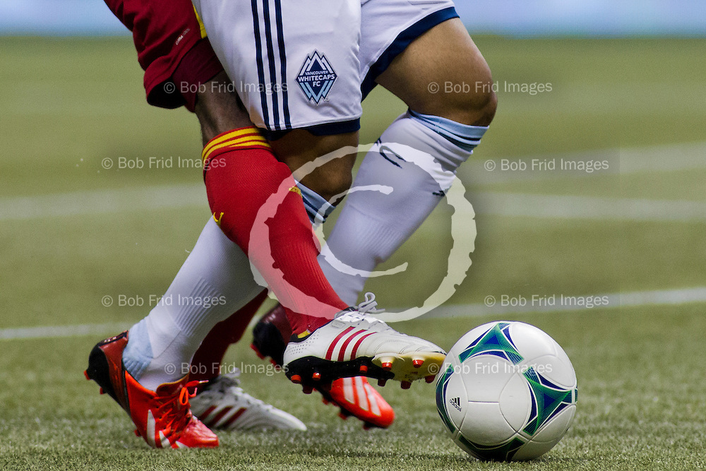 28 September 2013:   Action during a game between Vancouver Whitecaps FC and Real Salt Lake on Bell Pitch at BC Place Stadium in Vancouver, BC, Canada. Final Score: Vancouver  - Salt Lake   ****(Photo by Bob Frid - Vancouver Whitecaps 2013 - All Rights Reserved)***