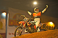 X-Knights, first event of the 2009 freestyle FMX International Cup at Figali Convention Center.Pictured: American freestyle motocross Ronnie Renner.