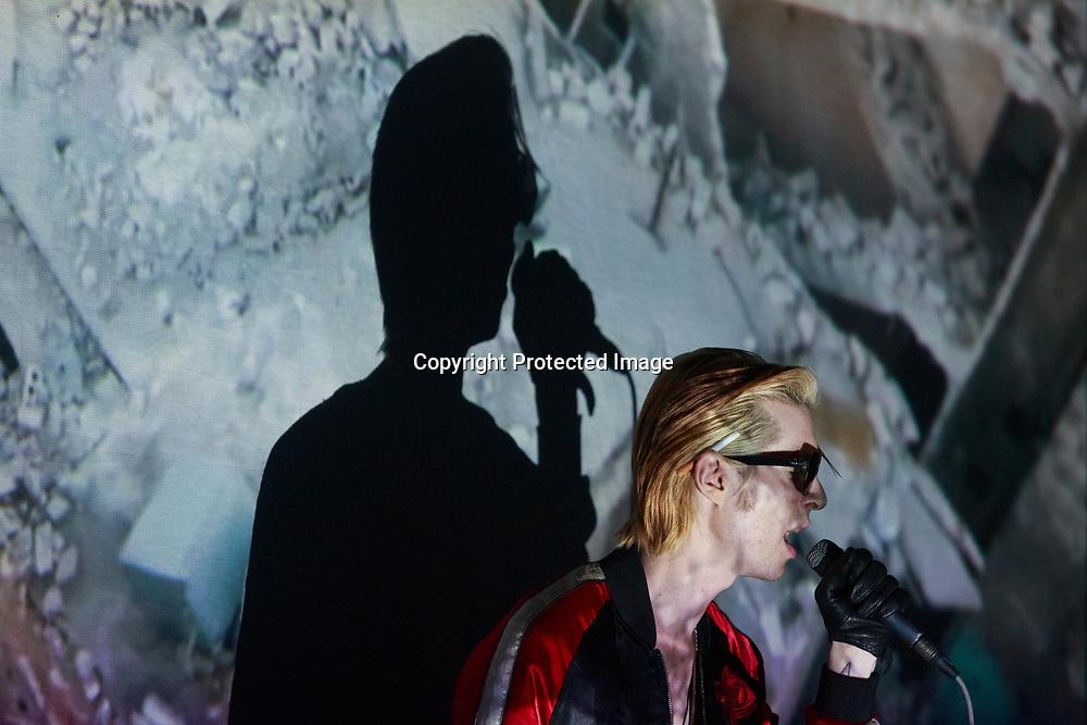 Edinburgh, Scotland 4th December 2017.  Joe Cardamone perform on stage at The Liquid Room in Edinburgh. Pako Mera.