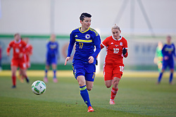 ZENICA, BOSNIA AND HERZEGOVINA - Tuesday, November 28, 2017: Bosnia and Herzegovina's Amela Kršo during the FIFA Women's World Cup 2019 Qualifying Round Group 1 match between Bosnia and Herzegovina and Wales at the FF BH Football Training Centre. (Pic by David Rawcliffe/Propaganda)
