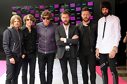 Image ©Licensed to i-Images Picture Agency. 16/07/2014. London, United Kingdom. Amber Run attends the VIP screening of Kasabian, Vue Leicester square. Picture by Chris Joseph / i-Images