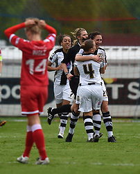 Notts County Ladies FC's Aileen Whelan celebrates the opening goal against Bristol Academy Women at Filton - Photo mandatory by-line: Paul Knight/JMP - Mobile: 07966 386802 - 25/04/2015 - SPORT - Football - Bristol - Stoke Gifford Stadium - Bristol Academy Women v Notts County Ladies FC - FA Women's Super League