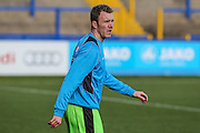 Forest Green Rovers Mark Ellis(5) warming up during the FA Trophy match between Macclesfield Town and Forest Green Rovers at Moss Rose, Macclesfield, United Kingdom on 4 February 2017. Photo by Shane Healey.