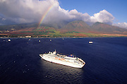 Rainbow, Cruise ship, Lahaina, Maui, Hawaii<br />