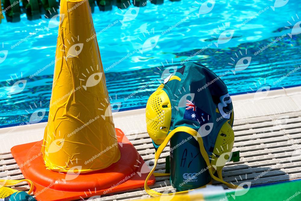 Cap Australia<br /> Brazil BRA (white) - Australia AUS (green)<br /> day 04 - 26/06/2015<br /> FINA Water Polo World League Superfinal Men<br /> Bergamo (ITA) 23-28 June 2015<br /> Photo G.Scala/Deepbluemedia