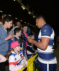 Bristol Rugby's Ben Glynn signs autographs - Photo mandatory by-line: Dougie Allward/JMP - Mobile: 07966 386802 - 17/04/2015 - SPORT - Rugby - Bristol - Ashton Gate - Bristol Rugby v Jersey - Greene King IPA Championship