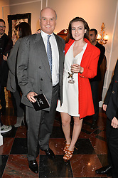 NICHOLAS COLERIDGE and his daughter SOPHIE COLERIDGE at the Dolce & Gabbana London Collections: Mens Event 2014 held at Dolce & Gabbana, 53-55 New Bond Street, London on 5th January 2014.