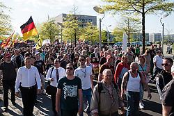Far-right demonstrators protest against Islam, refugees and Angela Merkel in Berlin