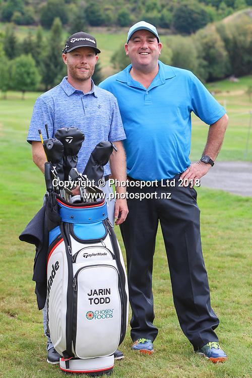 Jardin Todd & Stephen Bell, Day 1 of the 2018 ISPS Handa New Zealand Golf Open. Millbrook golf course, Arrowtown, New Zealand. Thursday 1 March 2018. © Copyright Photo: Richard Greenfield / www.photosport.nz