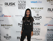 Actress Krystal Joy Brown attends Nolcha Fashion Week New York Fall-Winter 2014. Nolcha Fashion Week New York is a leading award winning event, held during New York Fashion Week, for independent fashion designers to showcase their collections to a global audience of press, retailers, stylists and industry influencers. Over the past six years Nolcha Fashion Week: New York has established itself as a platform of discovery promoting innovative fashion designers through runway shows and exhibition. Nolcha Fashion Week: New York has built an acclaimed reputation as a hot incubator of new fashion design talent and is officially listed by New York City Economic Development Corporation; offering a range of cost effective options to increase designers recognition and develop their business. (Photo: www.JeffreyHolmes.com)