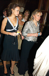 Left to right, MISS CAMILLA AL FAYED and her mother MRS MOHAMED AL FAYED at The Magic of Winter ball in aid of the charity KIDS held at The Royal Courts of Justice, London on 2nd Ferbruary 2005.<br />