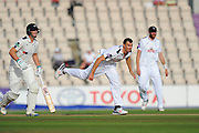 James Vince of Hampshire bowling during the Specsavers County Champ Div 1 match between Hampshire County Cricket Club and Yorkshire County Cricket Club at the Ageas Bowl, Southampton, United Kingdom on 1 September 2016. Photo by Graham Hunt.