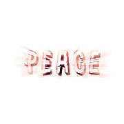 Digitally enhanced PEACE text