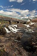 At over 370' long, the Bath Bridge is New Hampshire's longest covered bridge.