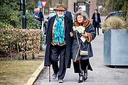 Uitvaart Mies Bouwman in een crematorium in Leusden.<br /> <br /> Op de foto:  Chiem van Houweninge en partner