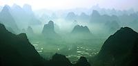 beautiful limestone karst views across the Yangshuo region