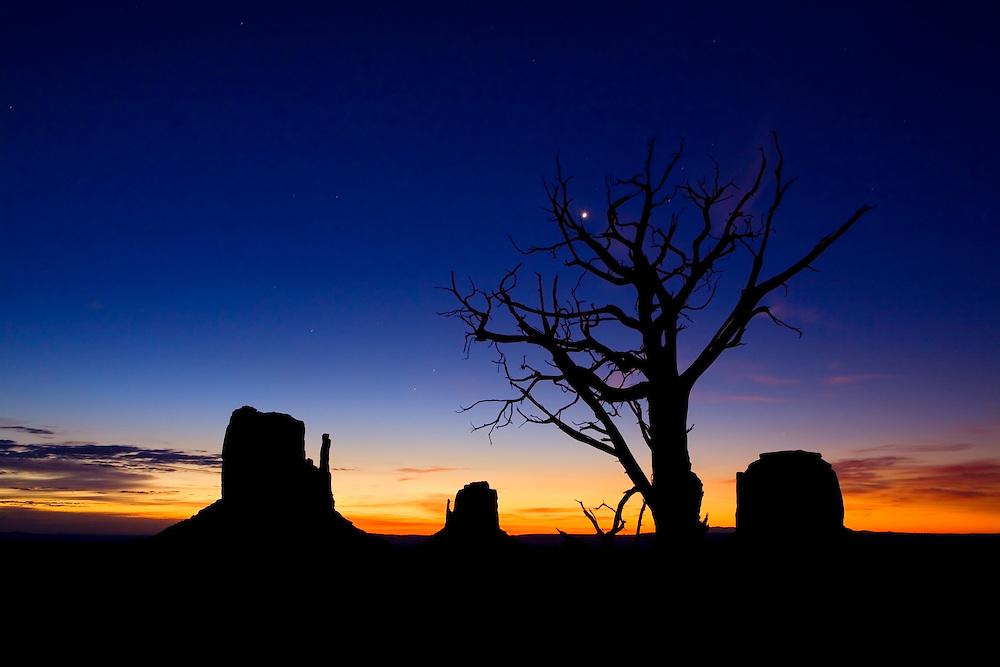 Pre-dawn ~ Monument Valley, Arizona.