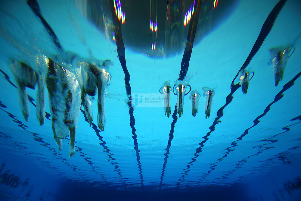 The team from Egypt performs during team synchronized swimming free routine final during day 14 of the London Olympic Games in London, England, United Kingdom on August 10, 2012. .(Jed Jacobsohn/for The New York Times)..