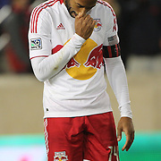 Thierry Henry, Red Bulls, after a missed chance during the New York Red Bulls V D.C. United Major League Soccer, Eastern Conference Semi Final 2nd Leg match at Red Bull Arena, Harrison. New Jersey. USA. 8th November 2012. Photo Tim Clayton
