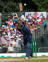 EDINBURGH, SCOTLAND - JUNE 10: 6 runs for Scotland captain Kyle Coetzer during the first innings of the one-off ODI at the Grange Cricket Club on June 10, 2018 in Edinburgh, Scotland. (Photo by MB Media/Getty Images)