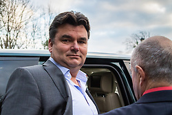 Ex owner of BHS Dominic Chappel who was found guilty of three charges of failing to provide information about the firm's pension schemes to investigators after it collapsed into administration with the loss of thousands of jobs leaves Barkingside Magistrate's Court, London following his sentencing to a £ 50,000 fine with costs of £37,000 with a £170 surcharge. He says he will appeal. PICTURED: Chappell climbs into his £8,000-per-quarter leased Range Rover. Barkingside, London, February 23 2018.