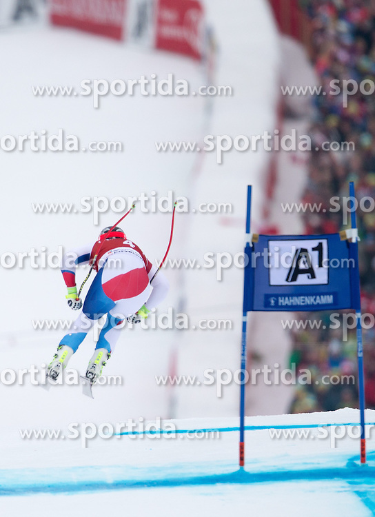 23.01.2015, Streif, Kitzbuehel, AUT, FIS Ski Weltcup, Supercombi Super G, Herren, im Bild Beat Feuz (SUI) // Beat Feuz of Switzerland in action during the men's Super Combined Super-G of Kitzbuehel FIS Ski Alpine World Cup at the Streif Course in Kitzbuehel, Austria on 2015/01/23. EXPA Pictures © 2015, PhotoCredit: EXPA/ Johann Groder