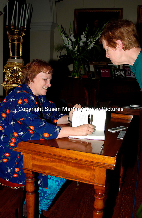 Libby Purves at the Althorp Literary Festival, Northampton, UK, June 18, 2005.  <br /> <br /> Susan Martin / Writer Pictures<br /> Contact +44 (0)20 822 41564<br /> info@writerpictures.com<br /> www.writerpictures.com
