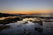 Looking at Old Bahia Honda Rail Bridge from Spanish Harbor Key at Sunrise