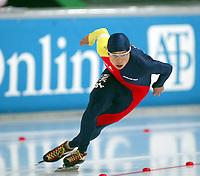 Skøyter, 9-10. november 2002. Verdenscupåpning, Vikingskipet, Shen Peng, Kina.