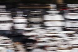 May 24, 2018 - Montecarlo, Monaco - 77 Valtteri Bottas from Finland Mercedes W09 Hybrid EQ Power+ team Mercedes GP  in the middle of the boats  during the Monaco Formula One Grand Prix  at Monaco on 24th of May, 2018 in Montecarlo, Monaco. (Credit Image: © Xavier Bonilla/NurPhoto via ZUMA Press)