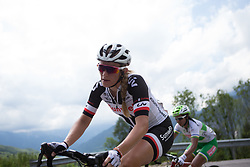 Julia Soek (NED) of Team Sunweb rides  the day's main climb of Stage 2 of the Giro Rosa - a 122.2 km road race, between Zoppola and Montereale Valcellina on July 1, 2017, in Pordenone, Italy. (Photo by Balint Hamvas/Velofocus.com)
