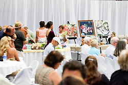 The Hebrew Congregation of St. Thomas presents its seventeenth annual Antiques, Art & Collectibles at Antilles' MCM Center.  The annual silent and live auction supports upkeep and maintenance of the Historic Synangogue and its community programs.   St. Thomas, USVI.  21 February 2016.  © Aisha-Zakiya Boyd