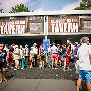 August 21, 2016, New Haven, Connecticut: <br /> Fans enjoy the Goose Island Tavern during a Box Holder meet and greet during WTA All-Access Hour on Day 3 of the 2016 Connecticut Open at the Yale University Tennis Center on Sunday, August  21, 2016 in New Haven, Connecticut. <br /> (Photo by Billie Weiss/Connecticut Open)