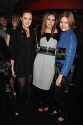 Left to right, CAMILLA AL FAYED, DASHA ZHUKOVA close friend of Roman Abramovich and NATALIA VODIANOVA at a party to celebrate the launch of the Kova & T fashion label and to re-launch the Harvey Nichols Fifth Floor Bar, held at harvey Nichols, Knightsbridge, London on 22nd November 2007.<br />