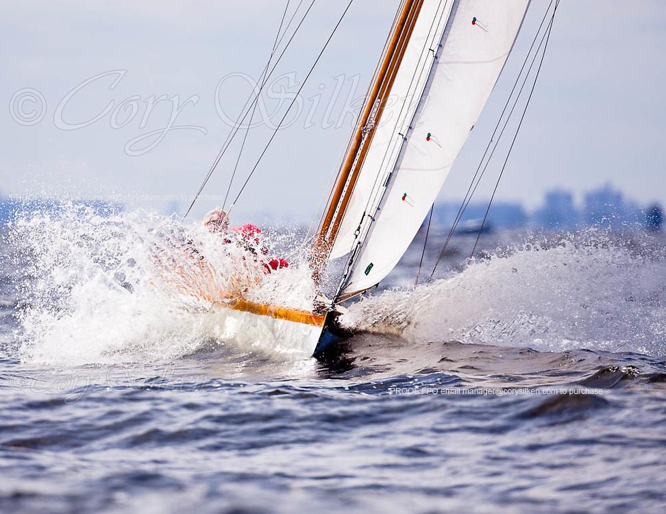 Dilemma, S Class, sailing in the Indian Harbor Classic Yacht Regatta.