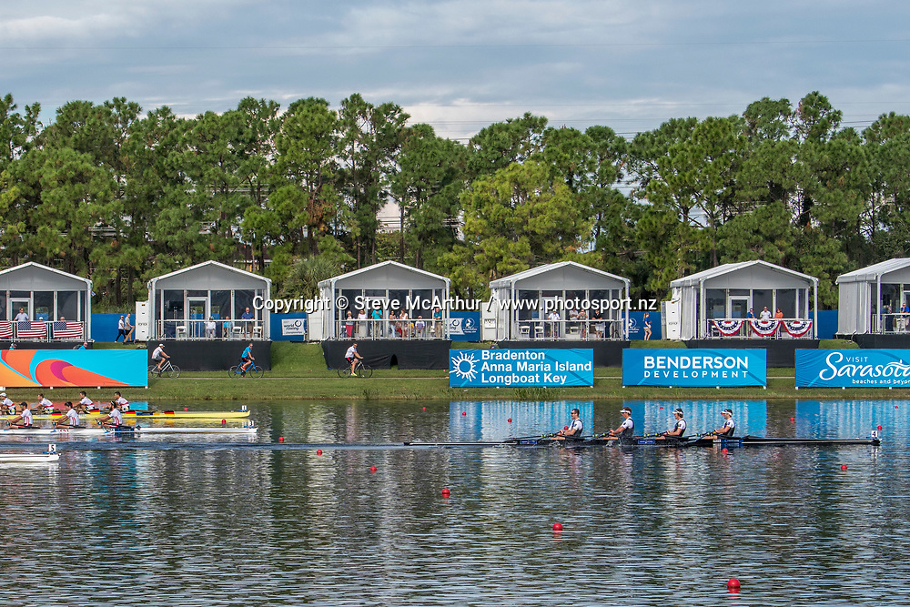 Lewis Hollows, Cameron Crampton, Nathan Flannery and Giacomo Thomas New Zealand Mens Coxless Quad winning the B final <br /> <br /> Finals races at the World Championships, Sarasota, Florida, USA Saturday 30 September 2017. Copyright photo &copy; Steve McArthur / www.photosport.nz