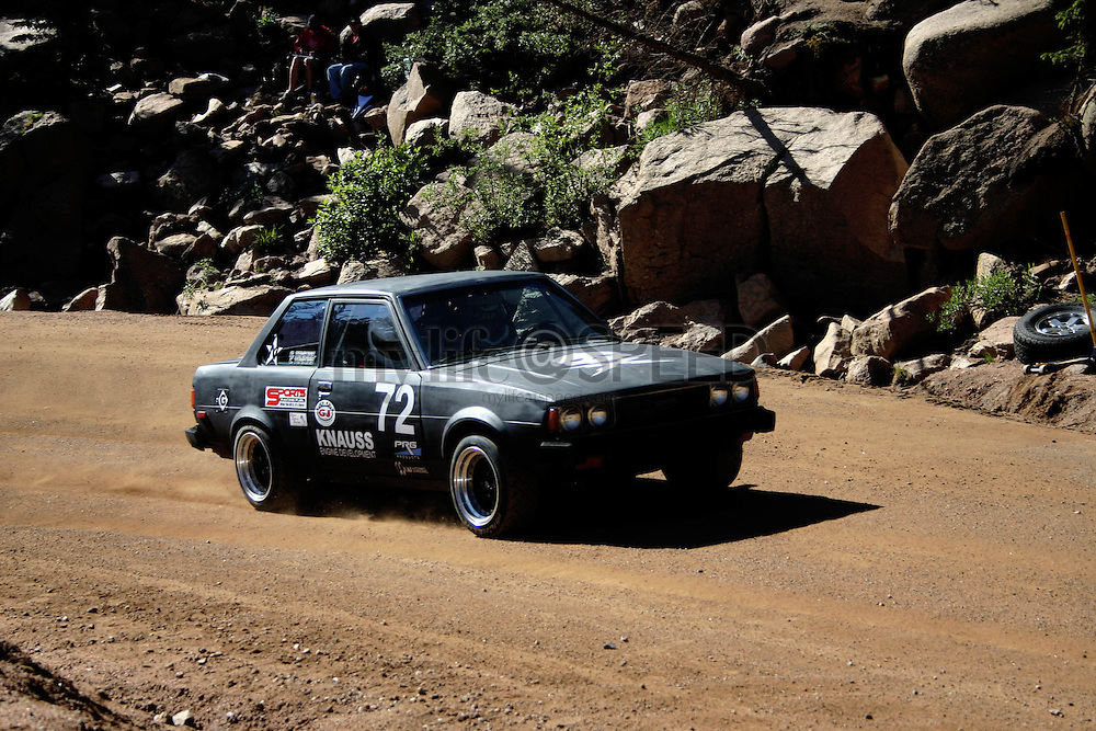 Race day action at the 2007 Pikes Peak International Hill Climb.