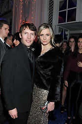 JAMES BLUNT and SOFIA WELLESLEY at the Warner Music Group Post Brit Awards Party in Association with Samsung held at The Savoy, London on 20th February 2013.