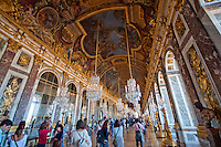 Palace of Versailles. The Hall of Mirrors.