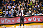 LA Clippers head coach Doc Rivers watches his team fall to the Golden State Warriors at Oracle Arena in Oakland, Calif., on February 23, 2017. (Stan Olszewski/Special to S.F. Examiner)