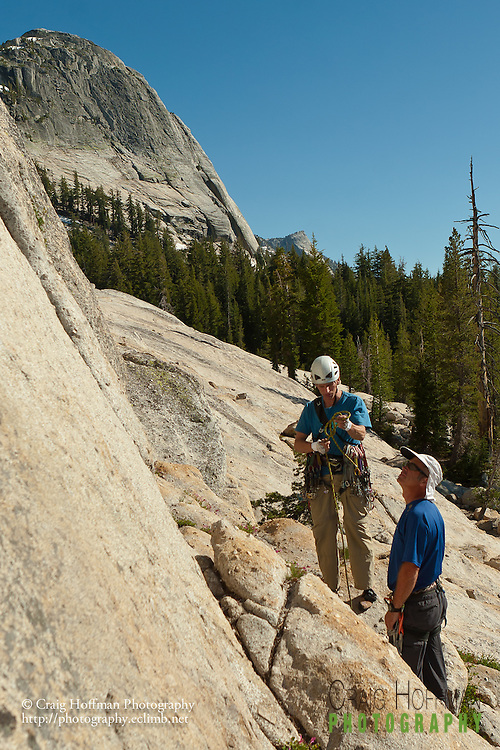 Climbing in Tuolumne (Yosemite National Park).