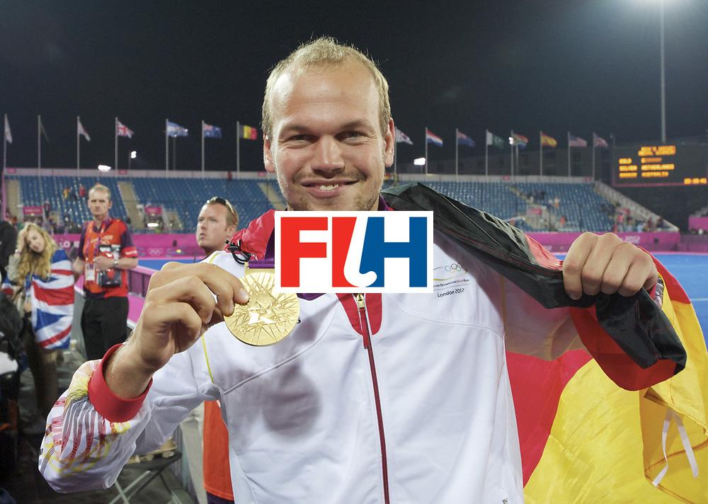 LONDON - Olympische Spelen 2012.men Final Gold.German v Netherlands.Germany wins 2-1.German men Olympic Champion .foto: Germany celebration Thilo Stralkowski.FFU PRESS AGENCY COPYRIGHT FRANK UIJLENBROEK.