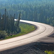 The Alaska Highway.  At Midway Lake in the Tetlin NWR south of Tok.  Tok, Alaska. USA.