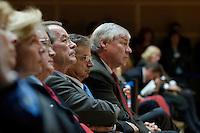 """14 JUN 2005, BERLIN/GERMANY:<br /> Franz Muentefering, SPD Parteivorsitzender, Joachim Poss, MdB, SPD, Stellv. fraktionsvorsitzender, Michael Sommer, Vorsitzender Deutscher Gewerkschaftsbund, DGB, (v.L.n.R.), Kongress der SPD Bundestagsfraktion zum Thema """"Soziale Marktwirtschaft"""", Willy-Brandt-Haus<br /> IMAGE: 20050613-03-062<br /> KEYWORDS: Joachim Poß, Franz Müntefering"""